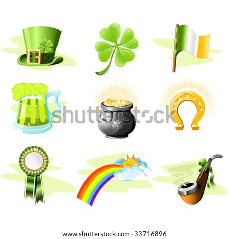 St. Patrick's Day icon set