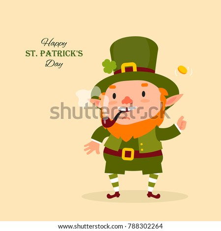 stpatrick 's day leprechaun