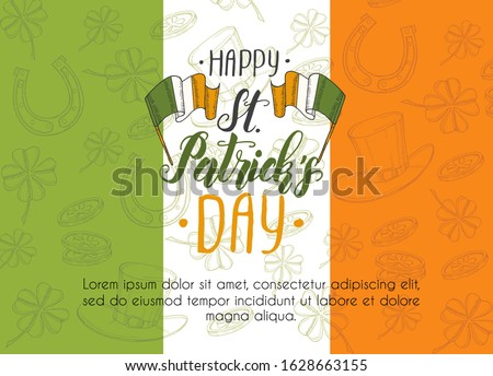 st patrick's day poster on