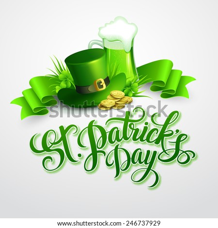 St. Patrick's Day poster. Vector illustration