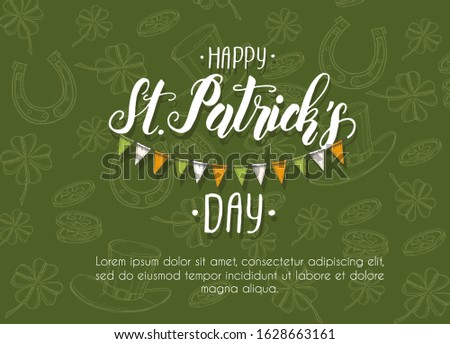 st patrick's day poster with