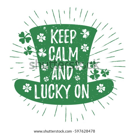st patrick s day quote typography lettering greeting card template