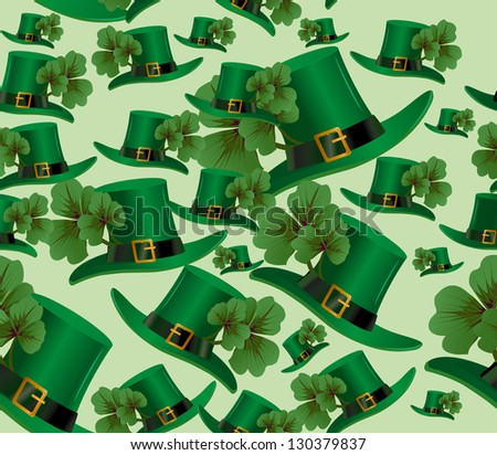 St. Patrick's day seamless background