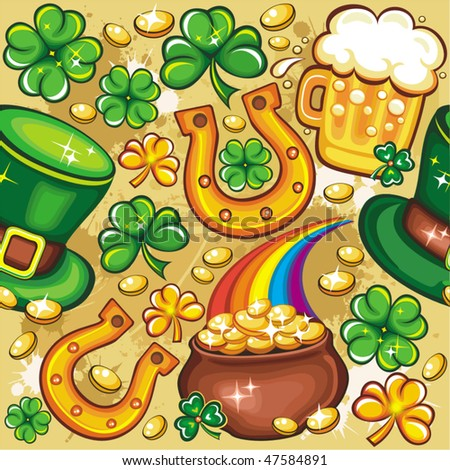St. Patrick's day seamless background series