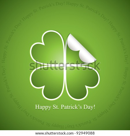 St. Patrick's day sticker - stock vector