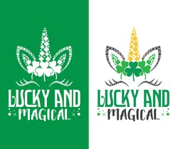 St. Patrick's Day T-shirt Design, Lucky and Magical