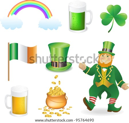 St Patrick's Day - Vector icons