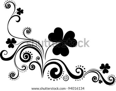 St.Patrick's design elements isolated on White background. Vector illustration