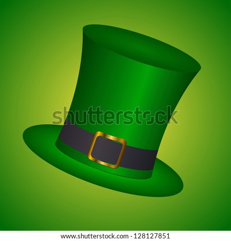 St. Patrick's hat with - vector illustration - stock vector