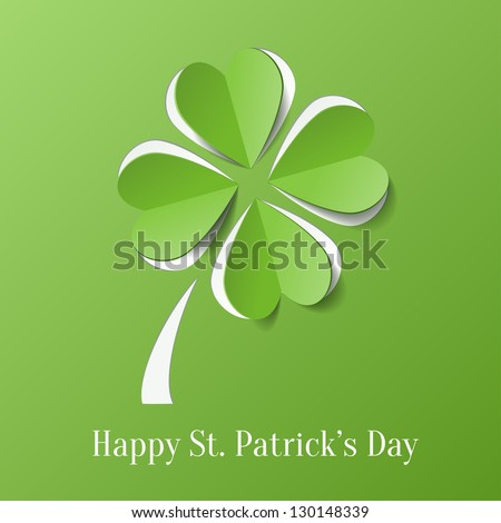 St. Patricks day background with clover
