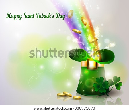 st patricks day green hat  with