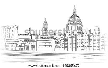 st paul cathedral cityscape