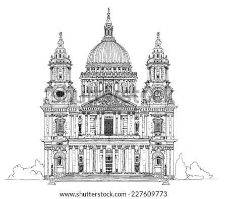 St. Pauls cathedral, London. Sketch collection