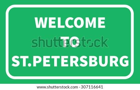 stpetersburg road sign