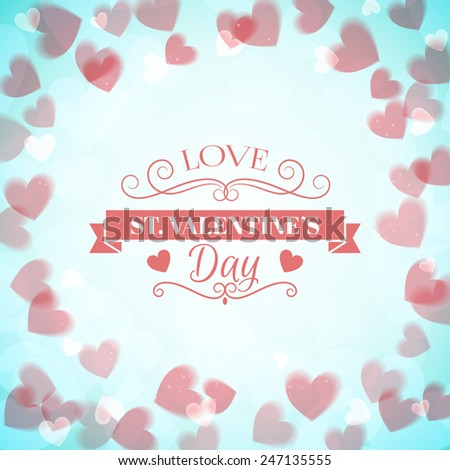 St. Valentine's Day abstract vector background with  #247135555