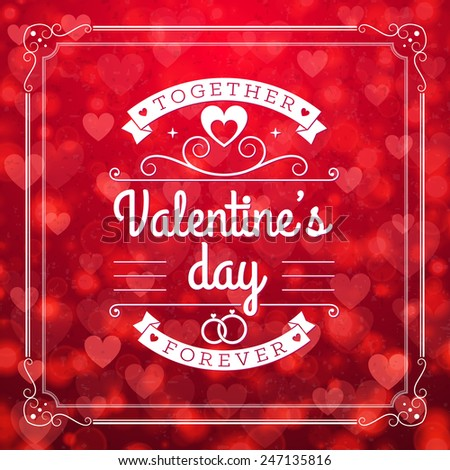 St. Valentine's Day abstract vector background with  #247135816