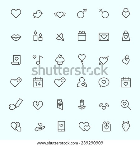 st valentine's day icons