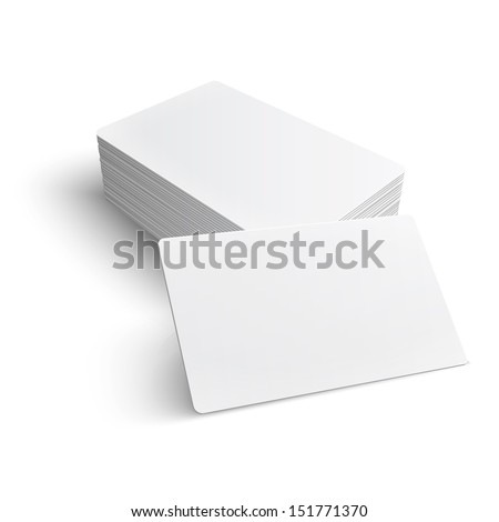 stack of blank business card on