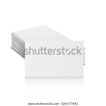 Free vector business card pile choice image card design and card free vector business card pile gallery card design and card template many empty business card template reheart Images