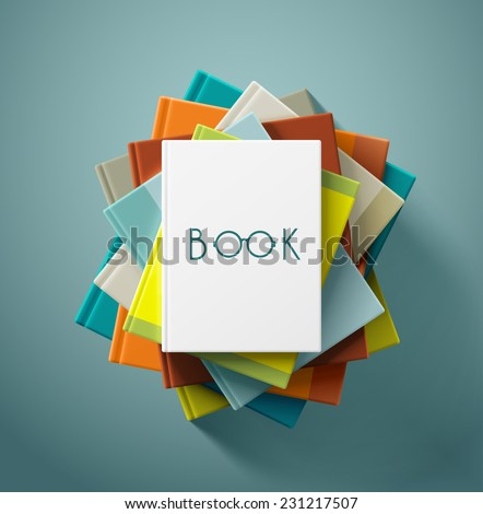 stack of books  eps 10