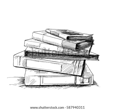 Sketch book collection vector download free vector art stock stack of books isolated on white hand drawn sketch vector illustration fandeluxe Image collections