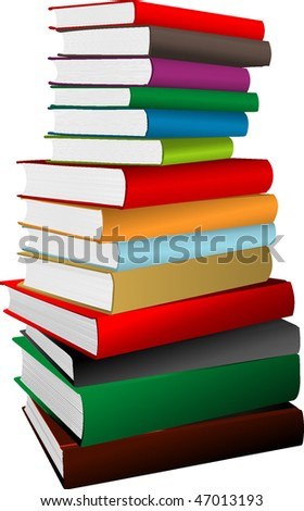 Stack of books. vector illustration