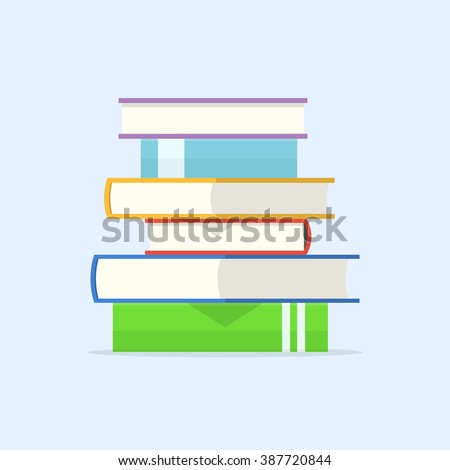 stack of books vector...