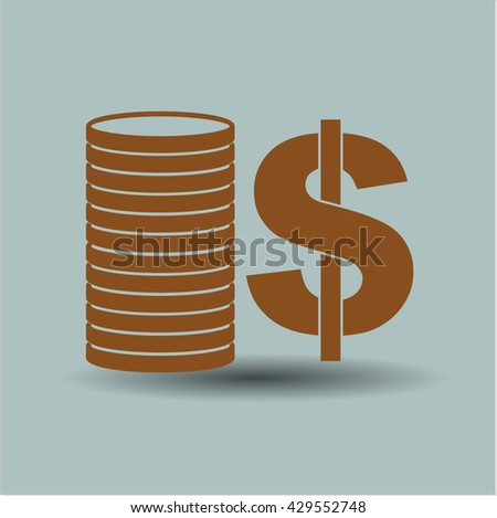 Stack of coins symbol