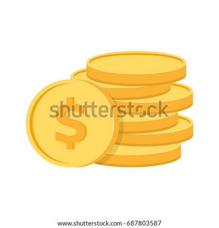 stack of coins with coin in