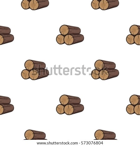 stack of logs icon in cartoon