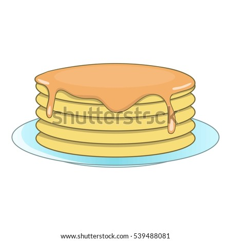 stack of pancakes icon cartoon