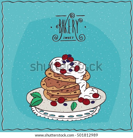 stack of pancakes with sour