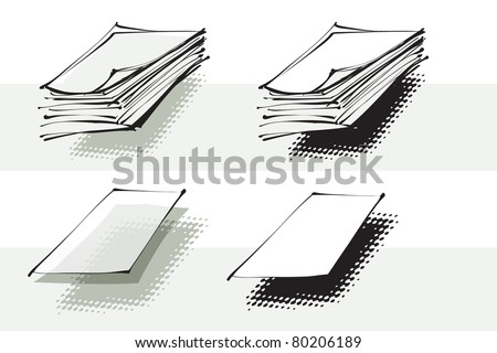 stack of paper, sheet of paper, objects