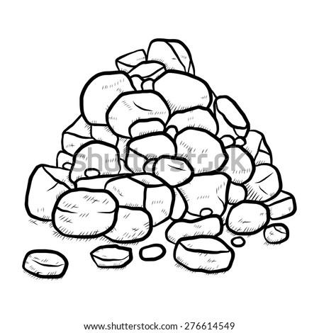 stack of rock   cartoon vector