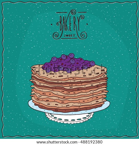 stack of thin pancakes with