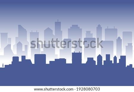 Stacked City Building Cityscape Skyline Business Illustration