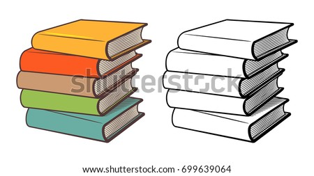 Stack of Colored Books - Download Free Vector Art, Stock Graphics ...