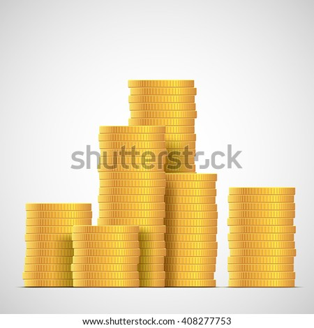 stacks of gold coins income