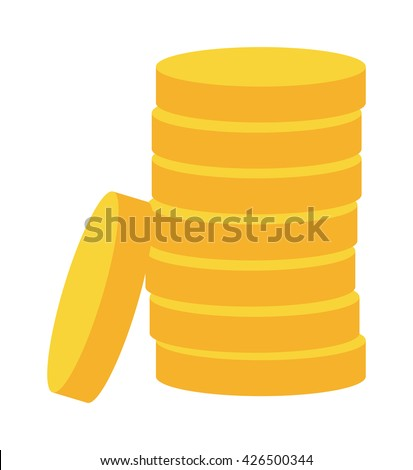 stacks of gold money coins