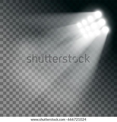 stadium lights effect on a