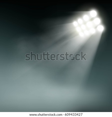 stadium lights on a dark