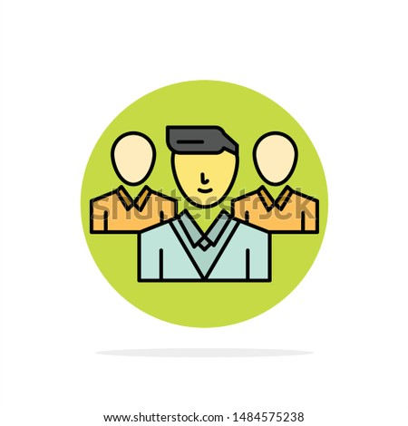 Staff, Security, Friend zone, Gang Abstract Circle Background Flat color Icon. Vector Icon Template background Stock fotó ©