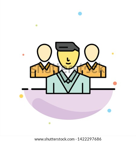 Staff, Security, Friend zone, Gang Abstract Flat Color Icon Template Stock fotó ©