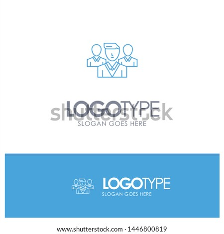 Staff, Security, Friend zone, Gang Blue outLine Logo with place for tagline Stock fotó ©