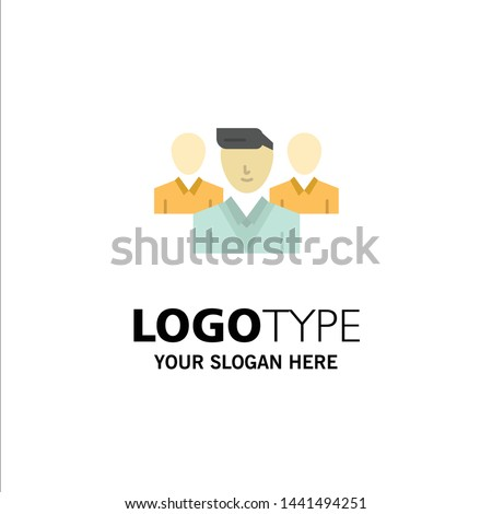 Staff, Security, Friend zone, Gang Business Logo Template. Flat Color Stock fotó ©