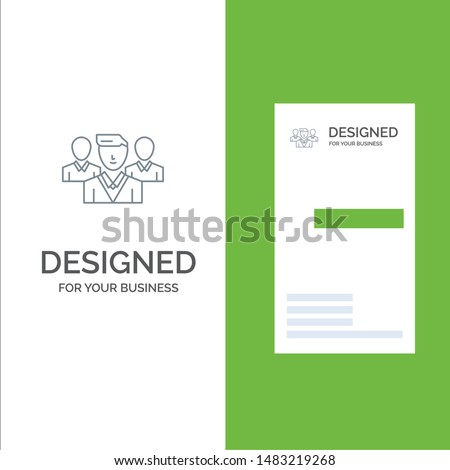 Staff, Security, Friend zone, Gang Grey Logo Design and Business Card Template Stock fotó ©