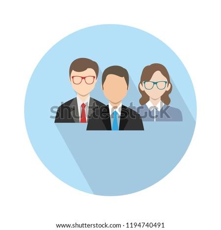 staff teachers icon - vector teachers isolated - education icon, school university illustration. staff icon