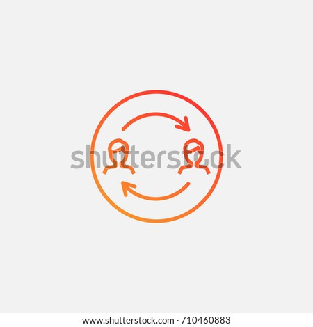 Staff turnover icon.gradient illustration isolated vector sign symbol