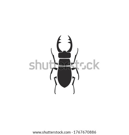 stag beetle silhouette icon