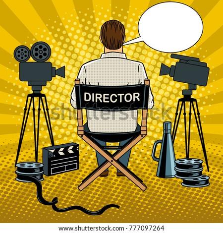 stage director on set pop art